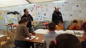 Malen & Spielen in der Lippeschule (Flüchtlingsunterkunft) - 13.02.2016